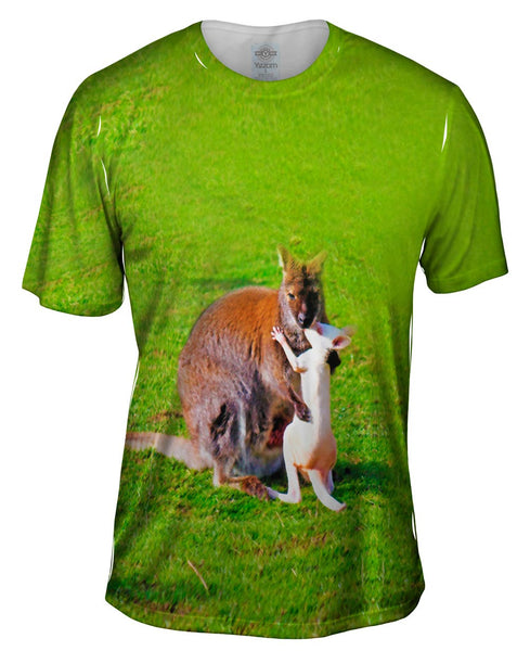 Kissing Kangaroo Mens T-Shirt