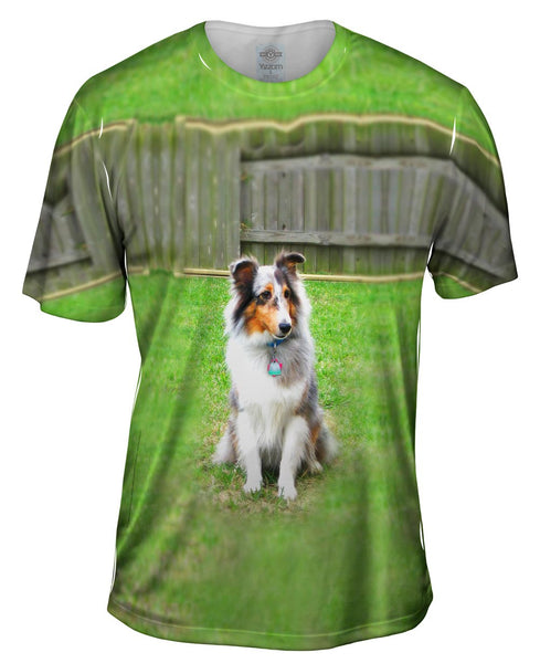 Spirited Sheltie Mens T-Shirt
