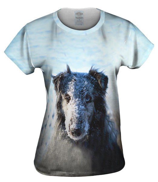 Snow Face Sheltie Womens Top