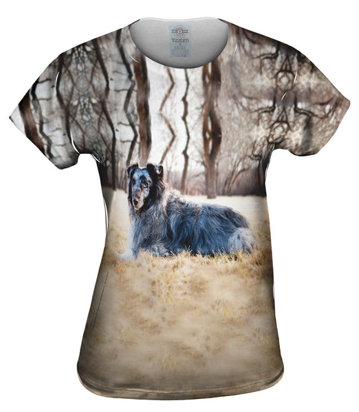 Old Grey Sheltie Womens Top