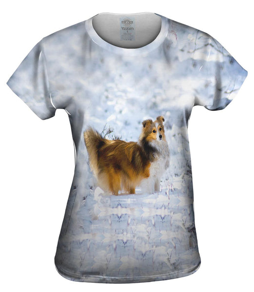 Snow Day Sheltie Womens Top