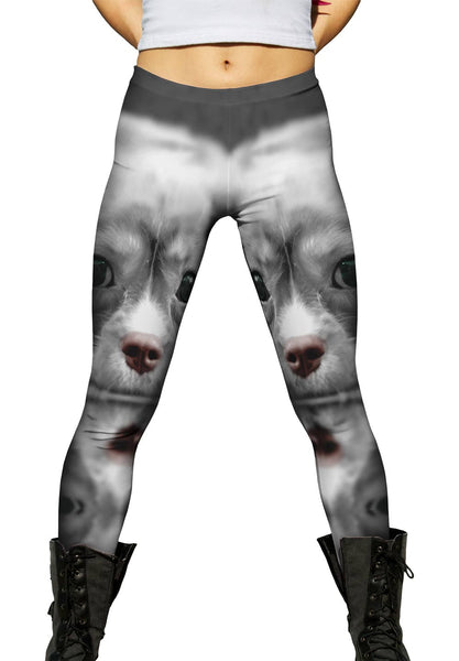 Monochrome Cocker Spaniel Womens Leggings
