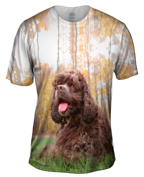 Cockerspaniel In Woods Mens T-Shirt