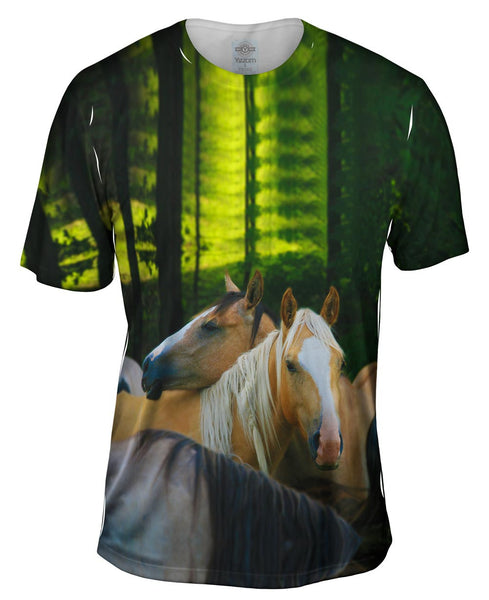 Horse Herd Mens T-Shirt