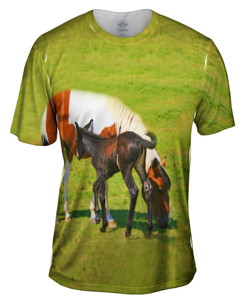 Baby And Mama Horse Mens T-Shirt