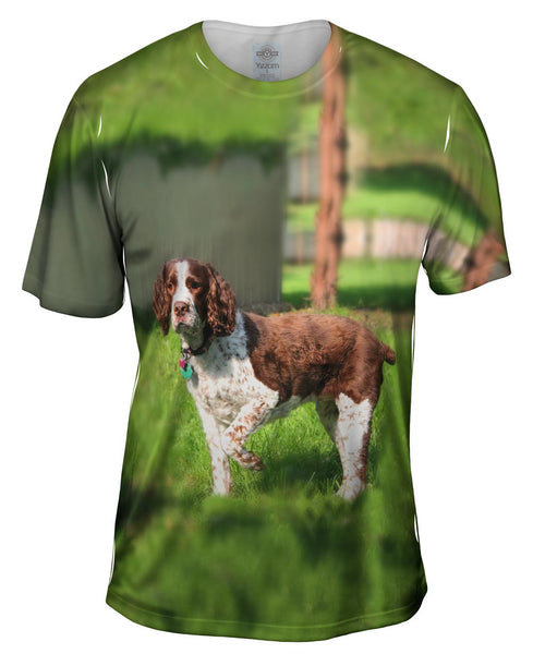 Cocker Spaniel Pointing Mens T-Shirt