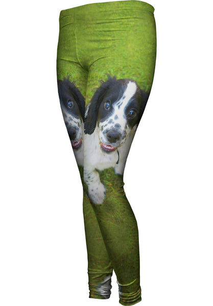 Fuzzy Little Cocker Spaniel Womens Leggings