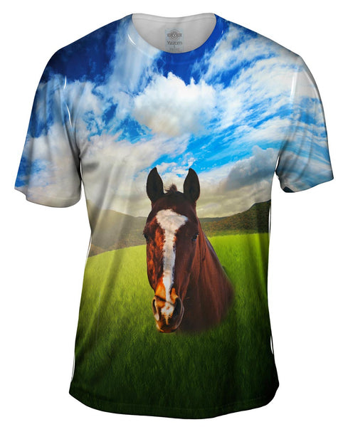 Portrait Horse Mens T-Shirt