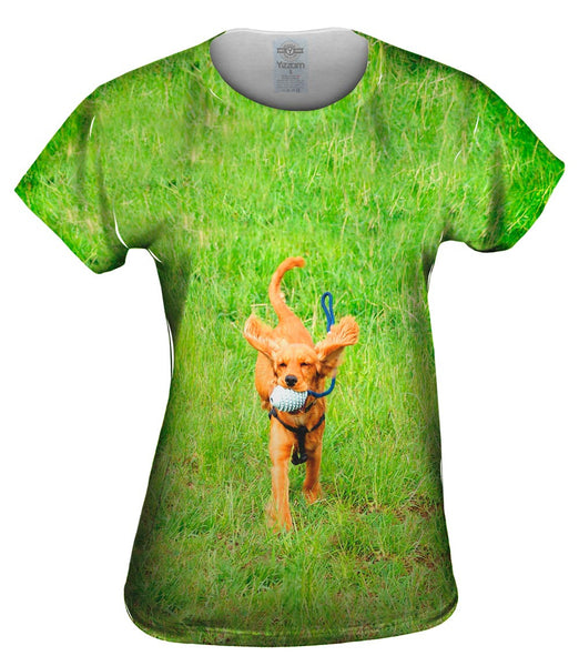 Excited Cocker Spaniel Womens Top