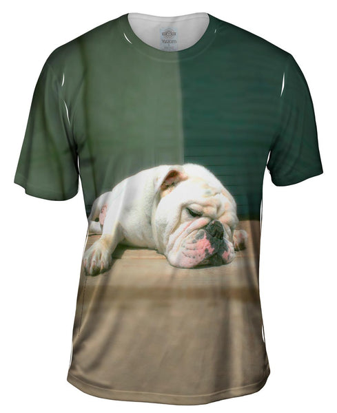 Sleepy Time Bulldog Mens T-Shirt