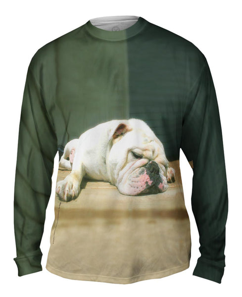 Sleepy Time Bulldog Mens Long Sleeve