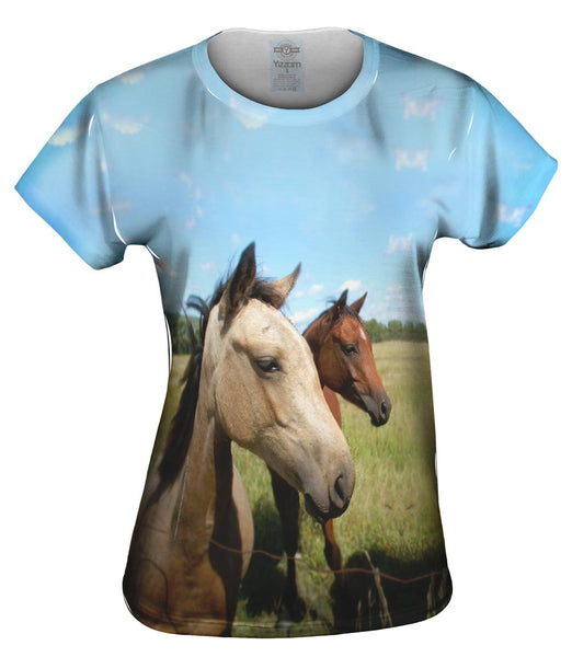 Beautiful Pair Of Horses Womens Top