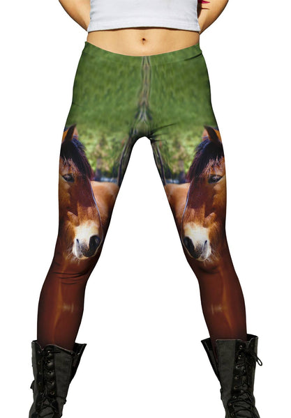 Longing  Horse Womens Leggings