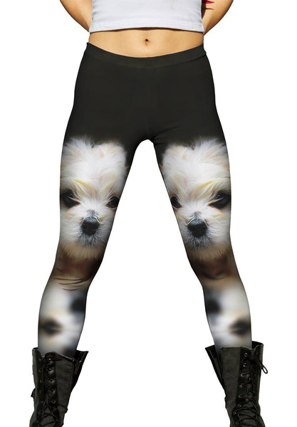 Mellow Baby Maltese Womens Leggings