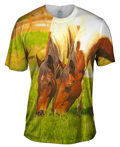 Grass Loves Company Horse Mens T-Shirt