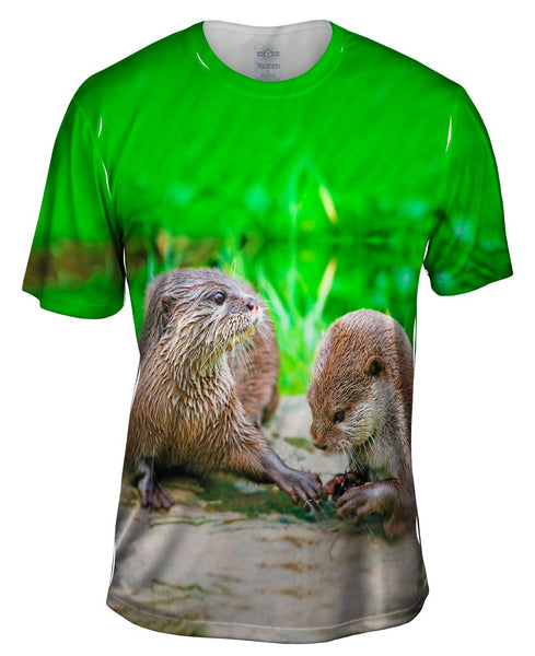 Manicure Asiatic Otters Mens T-Shirt