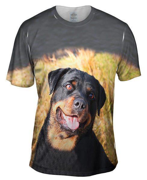 Bashful Rottweiler Mens T-Shirt
