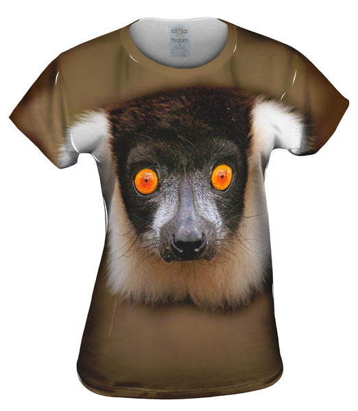 Look Into My Eyes Lemur Womens Top
