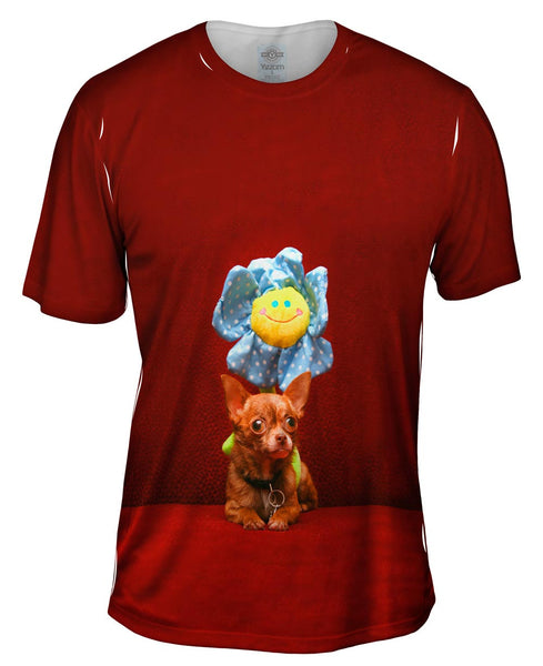 Happy Birthday Flower Chihuahua Mens T-Shirt