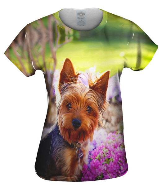 Springtime Yorkie Womens Top