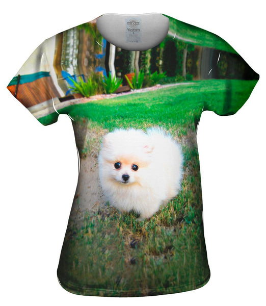 Fluffy Cotton Ball Pomeranian Womens Top