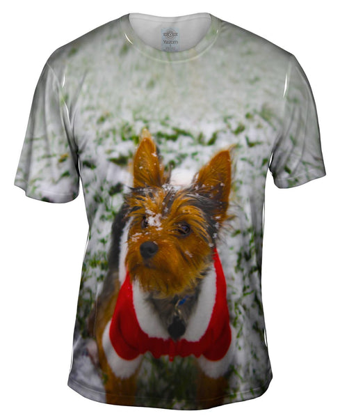 Merry Christmas Yorkie Mens T-Shirt