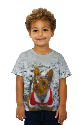 Kids Merry Christmas Yorkie