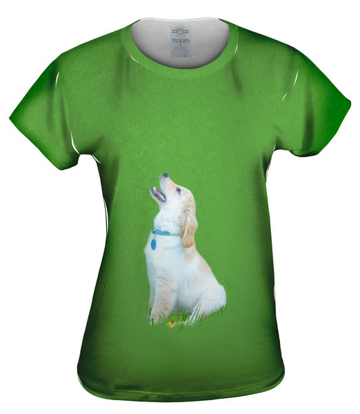 Singing Golden Retriever Womens Top