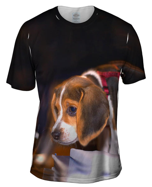 Cautious Beagle Mens T-Shirt