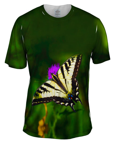 Wispy Yellow Butterfly Mens T-Shirt