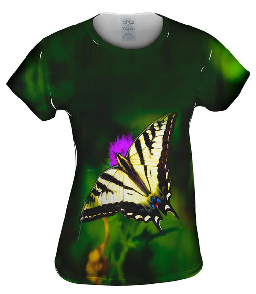 Wispy Yellow Butterfly Womens Top