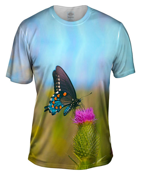 Wispy Black Butterfly Mens T-Shirt
