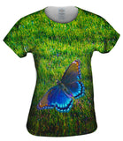 Flighted Dark Blue Butterfly