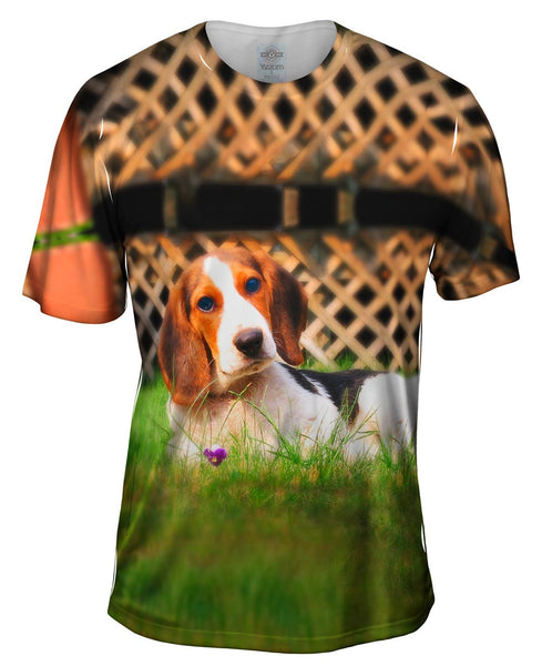 Lounging Beagle Mens T-Shirt
