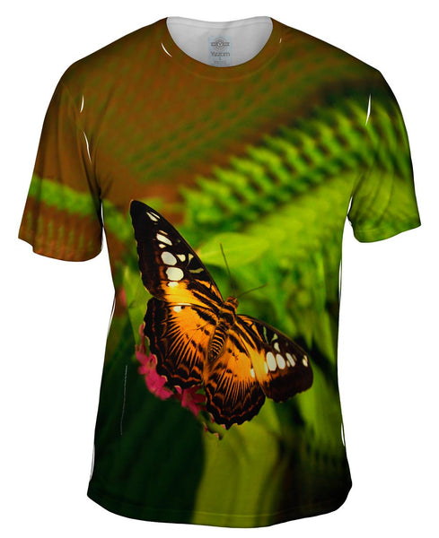 Colorful Dark Orange Butterfly Mens T-Shirt