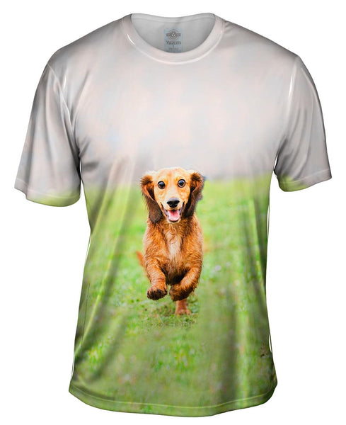 Dachshund Athlete Mens T-Shirt