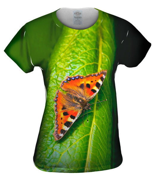 Dazzling Spotted Butterfly Womens Top