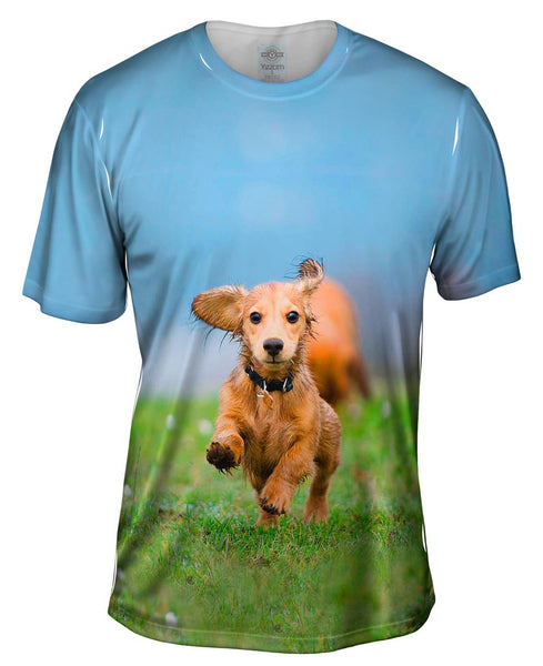 Love Mud Dachshund Mens T-Shirt