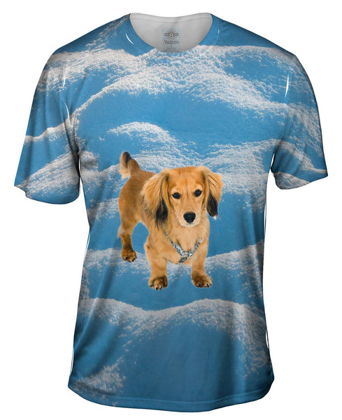 Dachshund Snow Play Mens T-Shirt
