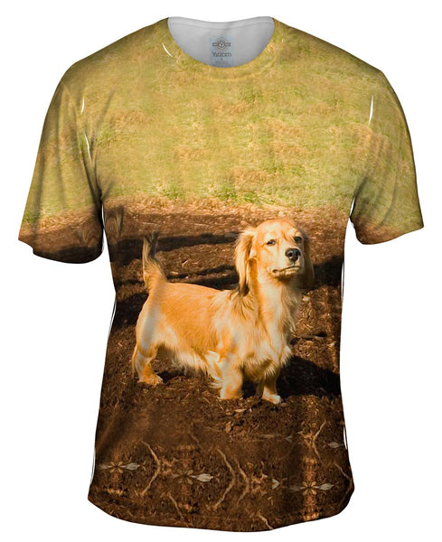 Dachshund Hates Mud Mens T-Shirt