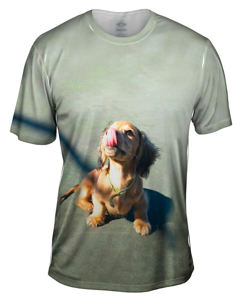 Face Lick Dachshund Mens T-Shirt