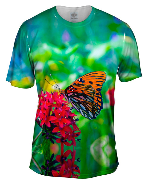 Wonderful Orange Spotted Butterfly Mens T-Shirt
