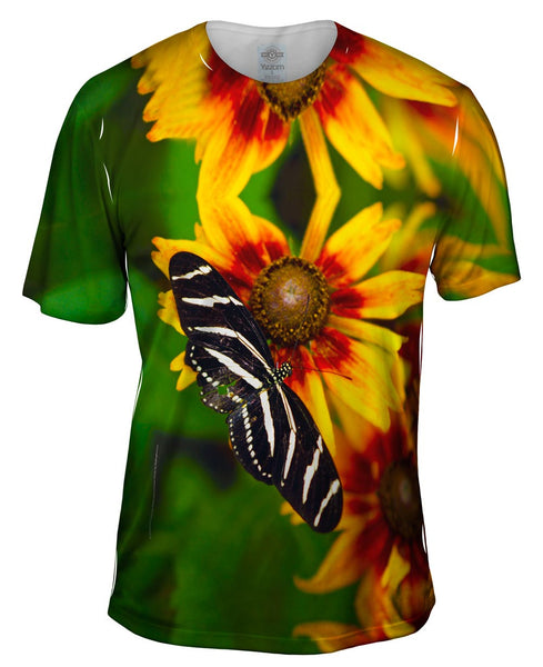 Endearing Striped Butterfly Mens T-Shirt