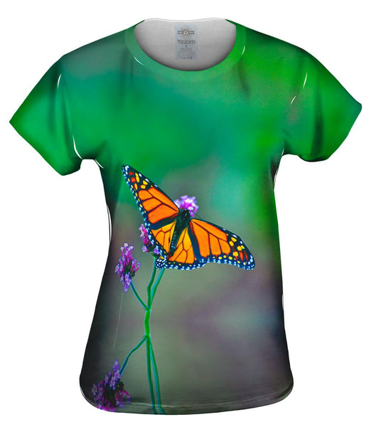 Pretty Monarch Butterfly Womens Top