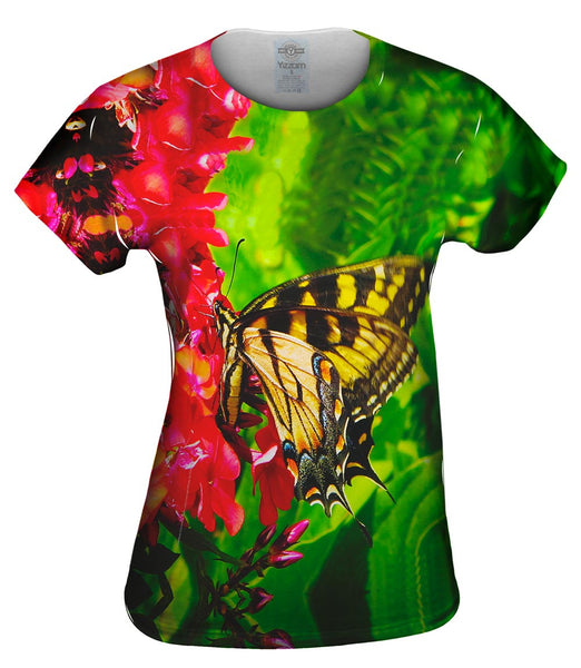 Yellow Swallowtail Butterfly Womens Top