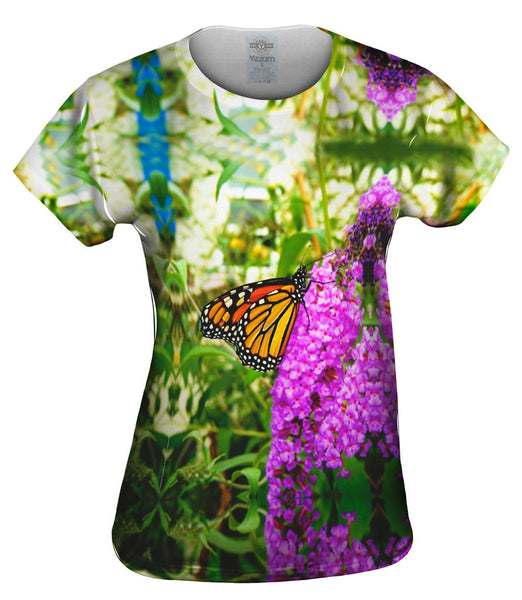 Fanciful Monarch Butterfly Womens Top