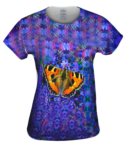 Graceful Orange Butterfly Womens Top