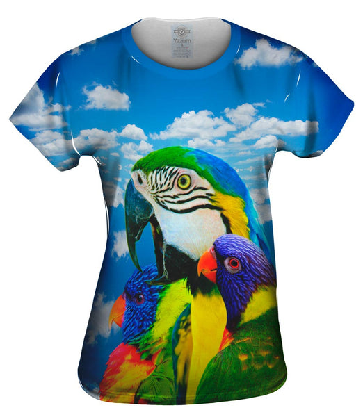 Soaring Bird Collage Womens Top