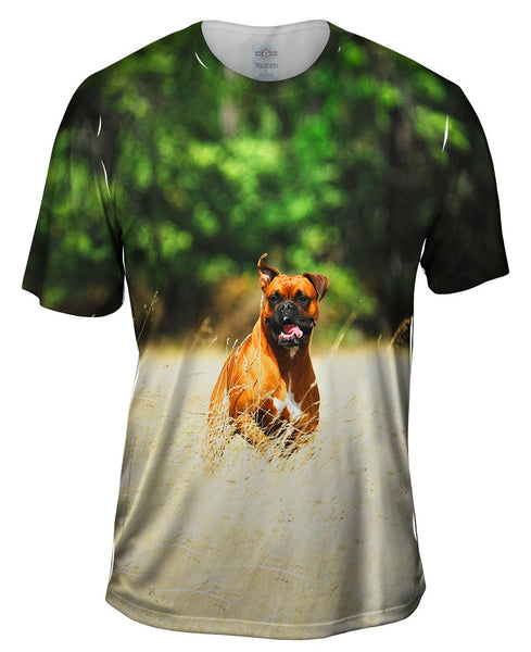Excited Boxer Sprinting Mens T-Shirt