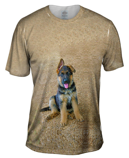 German Shepherd Puppy Mens T-Shirt